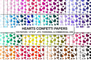 Hearts Confetti Digital Papers Heart Graphic Backgrounds By bestgraphicsonline