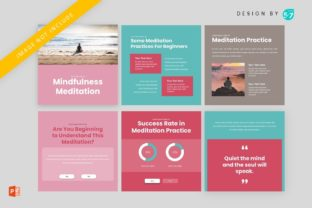 Instagram Feed - Mindfulness Meditation Graphic Graphic Templates By 57creative