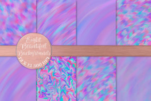 Print on Demand: Intense Purple Holographic Textures Graphic Backgrounds By AM Digital Designs