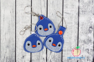 Little Cute Penguin Face Animals Embroidery Design By embroiderydesigns101