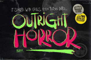 Print on Demand: Outright Horror Display Font By wingsart