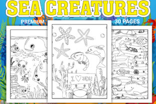 Print on Demand: Sea Creatures Coloring Pages Graphic Coloring Pages & Books Kids By Simran Store