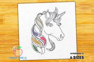 Unicorn Head Fairy Tales Embroidery Design By embroiderydesigns101