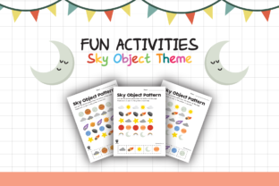 Worksheet Sky Object Pattern for Kids Graphic K By materialforkidsid