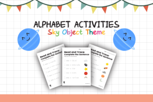 Worksheet Sky Object Read for Kids Graphic K By materialforkidsid