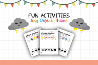 Worksheet Sky Object Shadow for Kids Graphic K By materialforkidsid