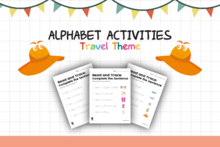 Worksheet Travel Read and Trace for Kids Graphic K By materialforkidsid