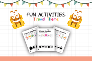 Worksheet Travel Whose Shadow for Kids Graphic K By materialforkidsid