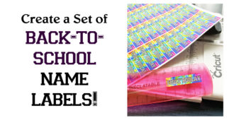 Create a Set of Back-to-School Name Labels