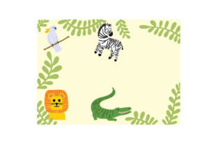Jungle Animal Blanket Template Baby Craft Cut File By Creative Fabrica Crafts