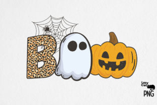 Boo Halloween Sublimation Graphic Print Templates By Lazy Cat