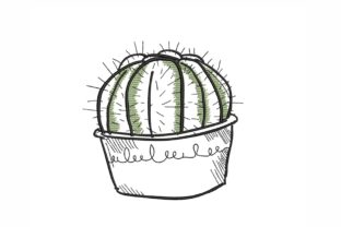 Cactus Single Flowers & Plants Embroidery Design By NinoEmbroidery