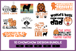 Print on Demand: Chow Chow Design Bundle | Chow Chow Dog Graphic Crafts By merchroll
