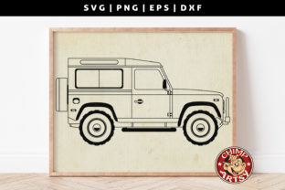 Print on Demand: Classic Car SVG Silhouette Graphic Crafts By ChimpArtsy