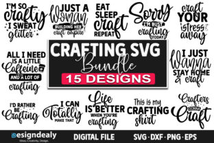 Print on Demand: Crafting SVG Bundle | 15 Designs Graphic Crafts By Designdealy