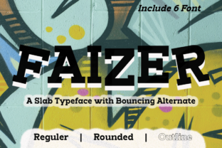 Print on Demand: Faizer Slab Serif Font By Differentialtype