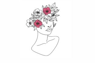 Floral Lady Beauty Embroidery Design By LizaEmbroidery