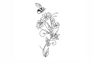 Flower Single Flowers & Plants Embroidery Design By NinoEmbroidery