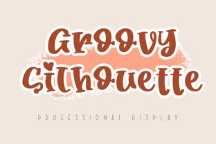 Print on Demand: Groovy Silhouette Serif Font By inworktype