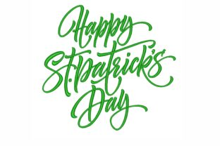 Happy St Patrick's Day St Patrick's Day Embroidery Design By LizaEmbroidery