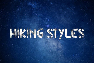 Print on Demand: Hiking Styles Display Font By aprianaart