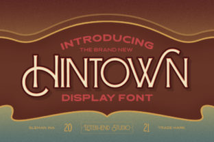 Print on Demand: Hintown Display Font By letterhend