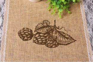 Hop Branch Floral & Garden Embroidery Design By Beautiful Embroidery