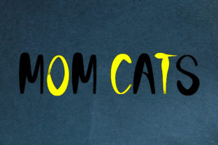 Print on Demand: Mom Cats Display Font By aprianaart