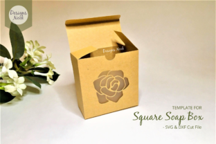Print on Demand: Soap Box Template with Window Cover Graphic 3D Shapes By Designs Nook