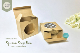 Print on Demand: Soap Box Template with Window Cover Graphic 3D SVG By DESIGNS NOOK