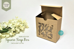 Print on Demand: Soap Box Template with Window Cover Opti Graphic 3D Shapes By Designs Nook