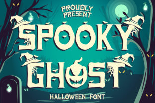 Print on Demand: Spooky Ghost Decorative Font By Sakha Design