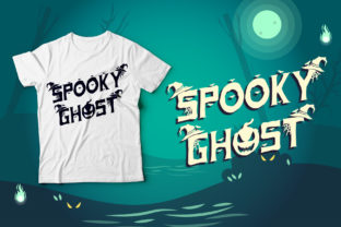 Print on Demand: Spooky Ghost Decorative Font By Sakha Design 4