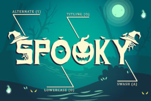 Print on Demand: Spooky Ghost Decorative Font By Sakha Design 8