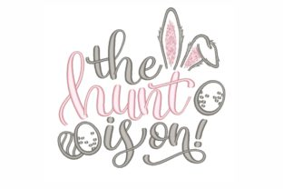 The Hunt is on Easter Embroidery Design By LizaEmbroidery