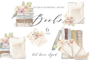 Watercolor Book Clipart Png Graphic Illustrations By GingerNatyArt