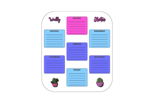 Weekly Planner Graphic Icons By Graphic Idea