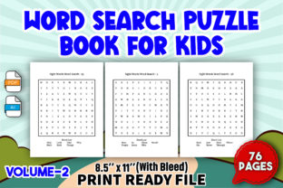 Word Search Puzzle Book for Kids   V2 Graphic KDP Interiors By Toster