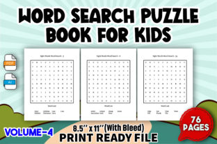 Word Search Puzzle Book for Kids   V4 Graphic KDP Interiors By Toster
