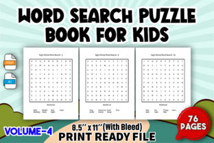 Word Search Puzzle Book for Kids   V5 Graphic KDP Interiors By Toster