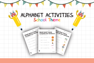 Worksheet School Read and Trace for Kids Graphic K By materialforkidsid
