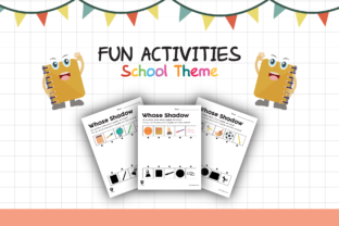 Worksheet School Whose Shadow for Kids Graphic K By materialforkidsid