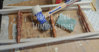 Use Old Spindles to Make a Farmhouse Ladder