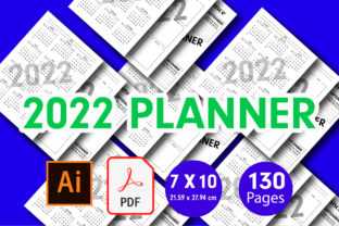 2022 Daily Planner KDP & Print Ready Graphic KDP Interiors By creative Shope