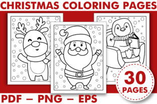 Print on Demand: CHRISTMAS COLORIG BOOK PAGES for KIDS Graphic Coloring Pages & Books Kids By KDP INTERIOR DESIGN
