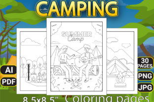 Print on Demand: Camping Coloring Pages Graphic Coloring Pages & Books Kids By Simran Store