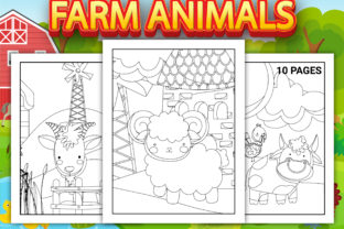 Print on Demand: Farm Animals Coloring Pages Vol-3 Graphic Coloring Pages & Books Kids By Simran Store