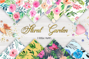 Print on Demand: Floral Garden Seamless Pattern Graphic Patterns By PinkPearly