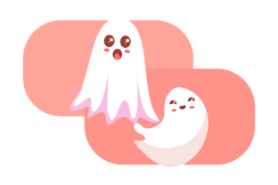 Halloween Spooky Ghost Design Background Graphic Icons By nalathifastudio