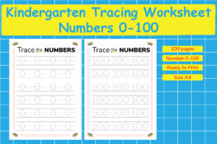 Kindergarten Tracing Worksheets 0-100 Graphic Teaching Materials By Kids Zone